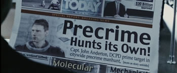 e paper newspaper by steven spielberg from minority report movie paper thin e paper newspaper changes content