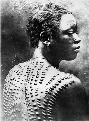 (African scarification tattoos