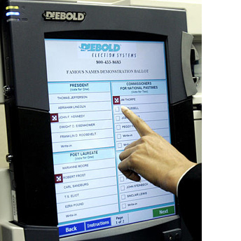 electronic voter machine