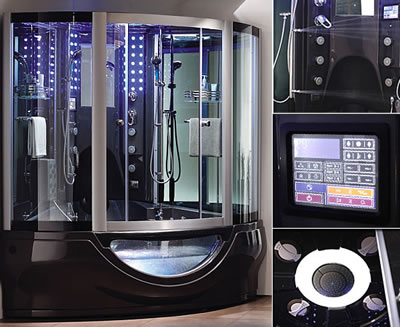 Aquapeutics futuristic luxury steam shower science fiction in the news - Luxury steam showers ...