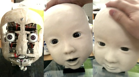Affetto Child Robot With Realistic Facial Expressions