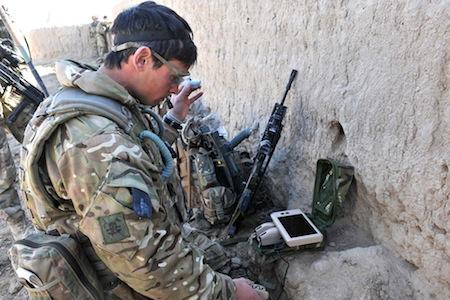 From Sergeant Scott Weaver Launches Black Hornet Nano UAV In Afghanistan
